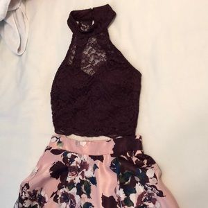 Two piece homecoming or holiday dress